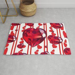 RED VALENTINES & RUBY HEARTS  DESIGN Rug