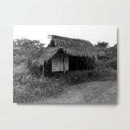 Nipa Hut Metal Print