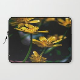 Yellow Spring Flowers Laptop Sleeve