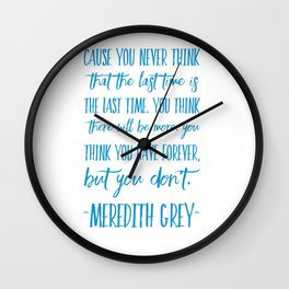 The last time  Wall Clock