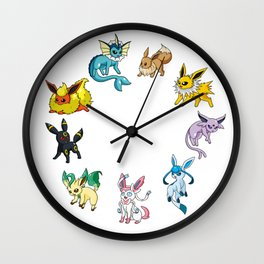 Eeveeloution Wall Clock