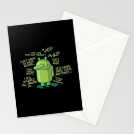 PARANOID ANDROID Stationery Cards
