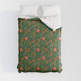 Winter Florals - Green Comforters