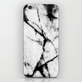 Marble Concrete Stone Texture Pattern Effect Dark Grain iPhone Skin