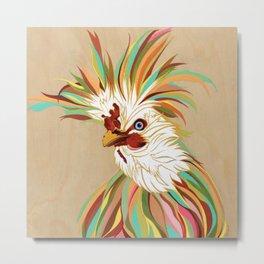 Jim, the Polish Rooster by Robin Arthur, aka RobiniArt! Metal Print