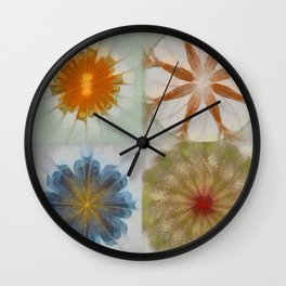 Fulvous Certainty Flowers  ID:16165-113635-96480 Wall Clock