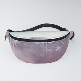 Glitched Mountains Fanny Pack