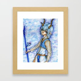 The Reindeer Icemage Framed Art Print