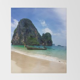 Railay Beach, Thailand Throw Blanket