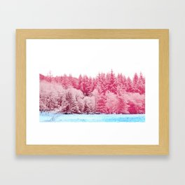 Candy pine trees Framed Art Print