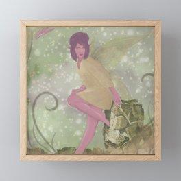 Tiny Woodland Fairy Framed Mini Art Print