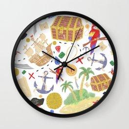 ispy Treasure Island Wall Clock