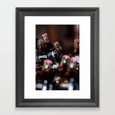 Glass Coca Cola Bottles Framed Art Print