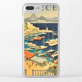 Vintage poster - Grece Clear iPhone Case