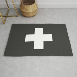 Swiss Cross Charcoal Rug