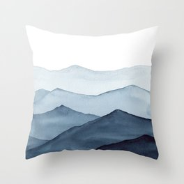 abstract watercolor mountains Throw Pillow