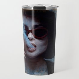 Marla Singer Smokes A Cigarette Behind Sunglasses - Fight Travel Mug