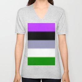 Genderqueer Pride Flag v2 Unisex V-Neck