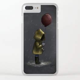 a storm blew me away Clear iPhone Case