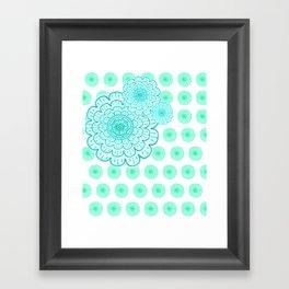 seafoam & blueeeey Framed Art Print