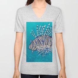 Lion Fish 3, a pretty predator & invasive species Unisex V-Neck
