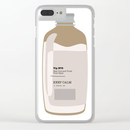 Tip in a Bottle №8 Clear iPhone Case