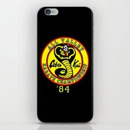 cobra kai karate clan iPhone Skin