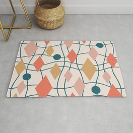 Colorful Mid Century Modern Geometric Abstract 130 Rug