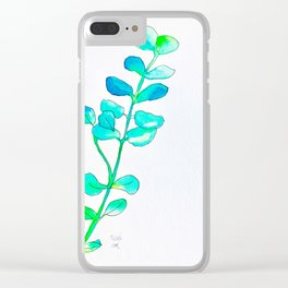 Watercolor Leaves Clear iPhone Case