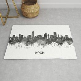 Kochi Kerala Skyline BW Rug