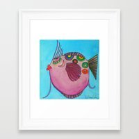 larry Framed Art Prints featuring LARRY by Caribbean Critters Co.