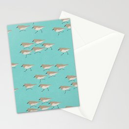 Scattering Sandpipers Stationery Cards