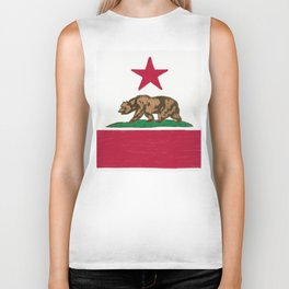California State Flag Biker Tank