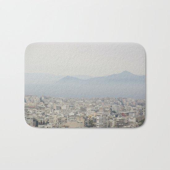 Haze Over Athens Bath Mat