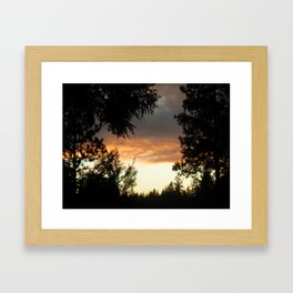 Gold Country Sunsets Framed Art Print