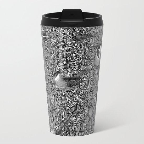 Bird Beard Metal Travel Mug
