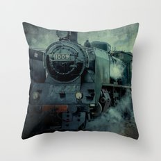 Steam Engine 1009 Throw Pillow
