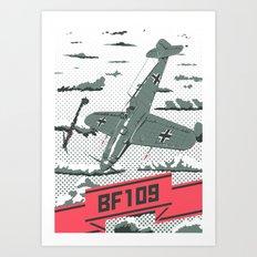Messerschmitt Bf.109 Art Print