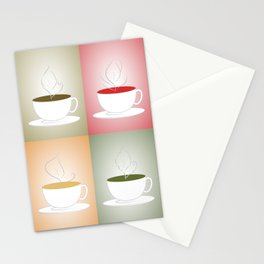 Tea Cups: Mate, Rooibos, Oolong, Matcha Stationery Cards