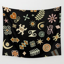 African Adinkra Symbols Wall Tapestry