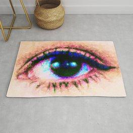 Cat Eye // Pixel Mosaic Color Blocking Art Rug