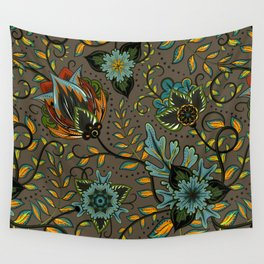 Boho Floral Pattern 17 Wall Tapestry