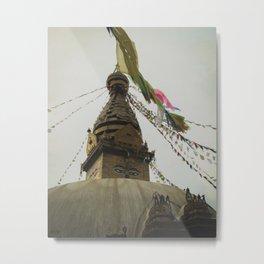 Exploring the City of Kathmandu in Nepal Metal Print