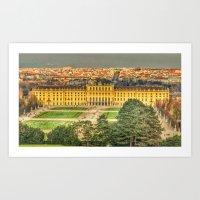 vienna Art Prints featuring Vienna by jamesrizzi