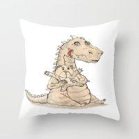dragon Throw Pillows featuring Dragon  by gunberk