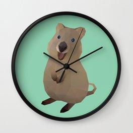 Quokka Polygon Art Wall Clock