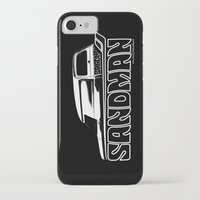 sandman iPhone & iPod Cases featuring Holden Sandman Panel Van by Blulime