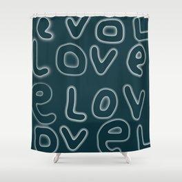 Love pattern 5 Shower Curtain