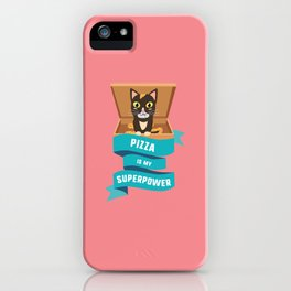 Pizza is my Superpower T-Shirt for all Ages D068q iPhone Case