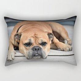 Bulldog waiting for family Rectangular Pillow